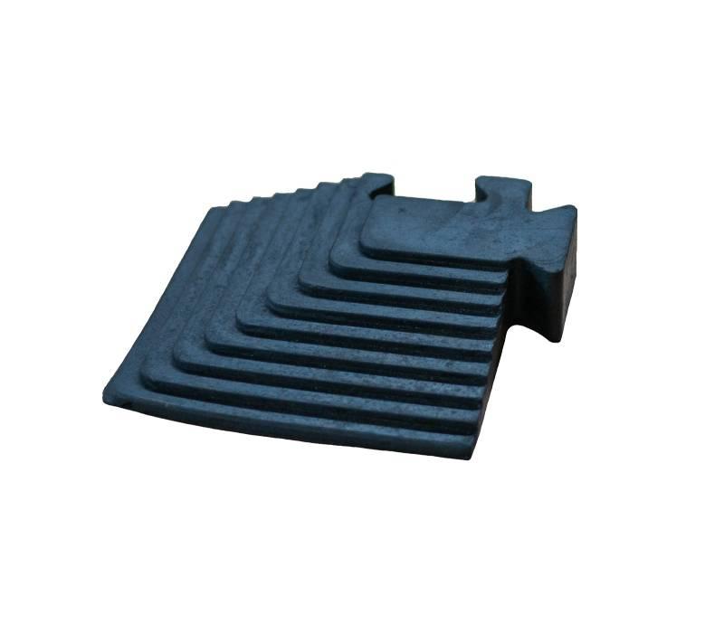 Eck-Auftrittrampe für Puzzlematten 2 cm