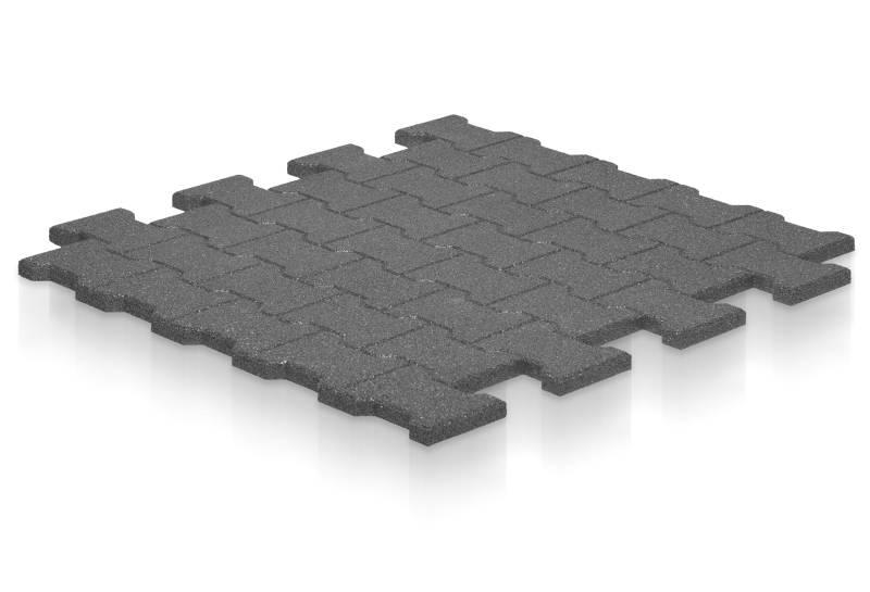 Gummimatte T-Stein 2,5 cm aus Gummigranulat – 110 x 110 cm