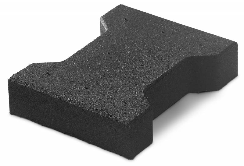 Gummipflastersteine Vollgummi 4,3 cm wasserundurchlässig